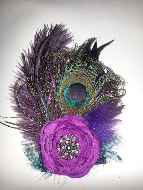 Etsy Wedding Peacock Wedding PurplePurple Flower by msformaldehyde, $25.00