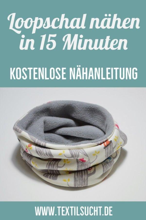 Nähanleitung: In 15 Minuten einen Schlaufenschal aufnähen   – Babymütze nähen