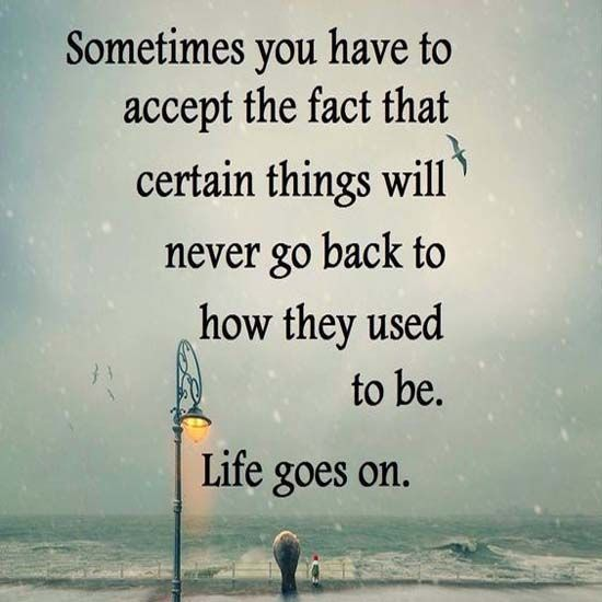Accept peace in your life