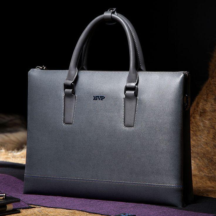 "BVP High-end Gentlemen Cowhide Decent Graceful Portfolio 13"" Laptop Bag Cases #BVP #BriefcaseAttache"