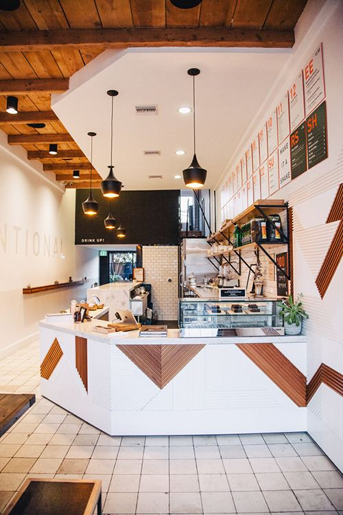 California Juice Bar . Scandinavian Feel . via Design Sponge