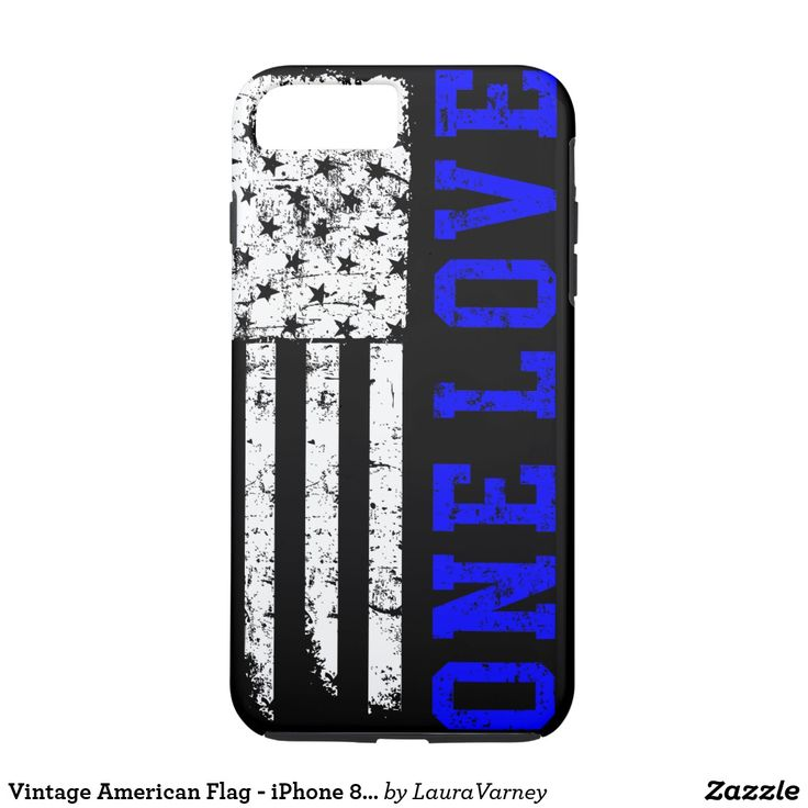 Vintage American Flag - iPhone 8 case