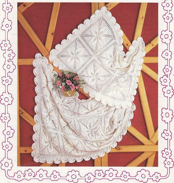 Baby Christening Blanket Knitting Pattern