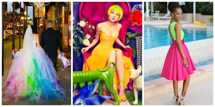 Women dress neon #neonparty #dress #women #fashion #ideas #fiesta #15años #bodas #cumpleaños #birthday