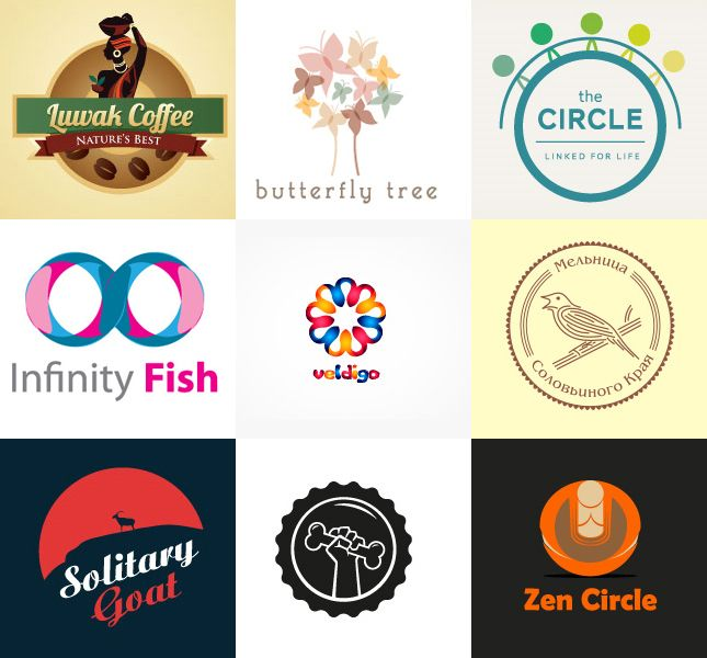 Wordpress blog updates - Seo plugin, template tutorial, logo design: Circle of Inspiration: 45 logos with the terms
