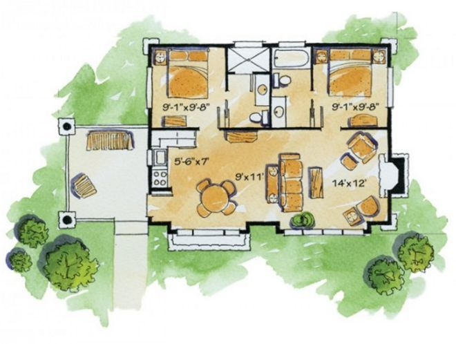 Luxury  lovely and efficient floor plans that fit bedrooms and bathrooms in under