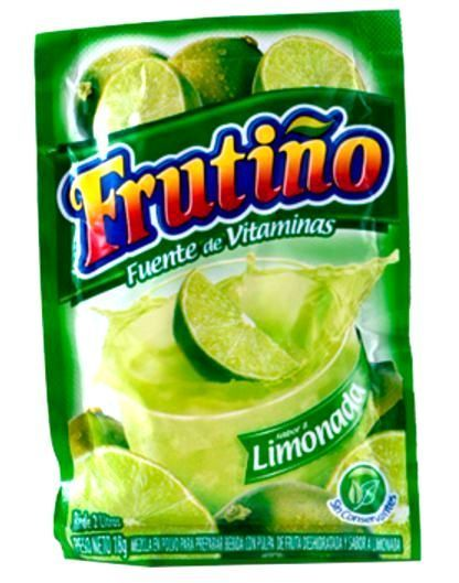 "(10x Pack) Frutino Fruit Drink Mix Colombian Flavors , "" Limonada "" Limeade"