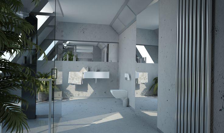 Szkło nadaje uroku nawet prostej łazience