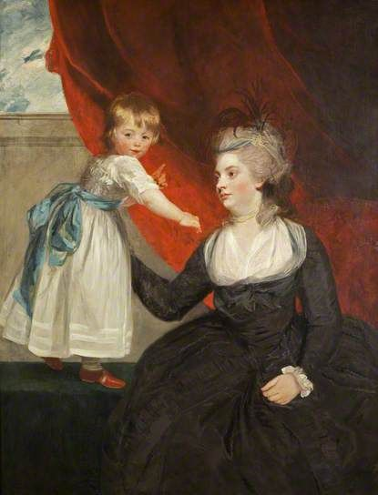 The Honourable Frances Courtenay, Lady Honeywood (b.1763), and Her Daughter by Joshua Reynolds, 1784, now in Bristol Museum and Art Gallery