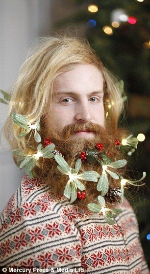 Who needs Christmas lights when light-up beard baubles are a thing?