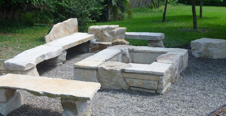 Backyard Fire Pit By Waterfalls Fountains Amp Gardens Inc