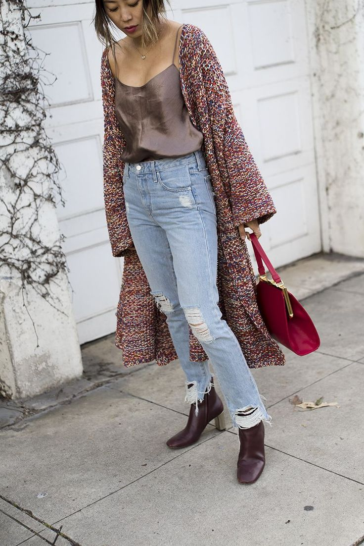 Distressed denim is a trend that's here to stay. Create an easy everyday look by pairing faded jeans with statement knitwear or an oversized blouse. For a more sophisticated take on the trend,...