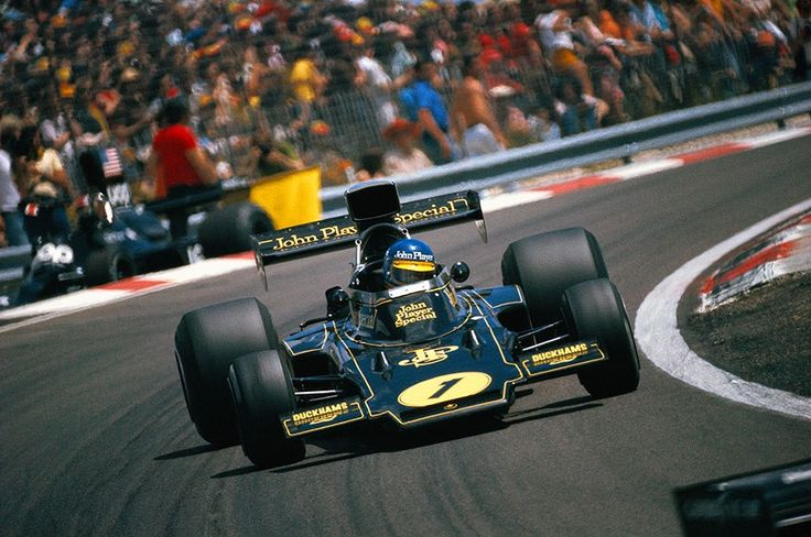 1974. LX Grand Prix de France. Dijon- Prenois. Ronnie Peterson go the the victory in the GP in the Lotus 72E. His way to the victory...