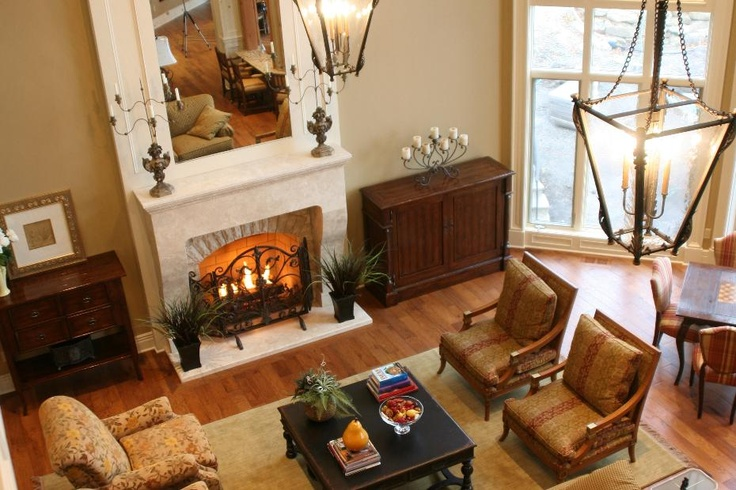 Elegant Inviting Living Room With Large Fireplace Traditional Fireplace D