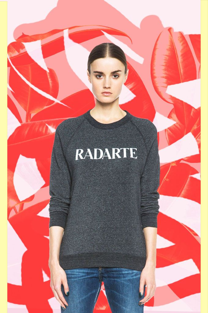 "Rodarte ""RADARTE"" Poly-Blend Sweatshirt in Black Heather available at Forward By Elyse Walker."
