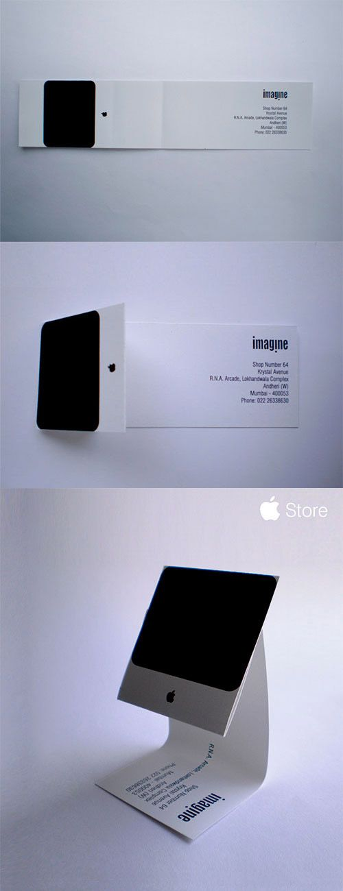 Apple iMac Business Card | #business #card #letterpress #creative #businesscard #corporate #design < repinned by www.amgdesign.co.nz