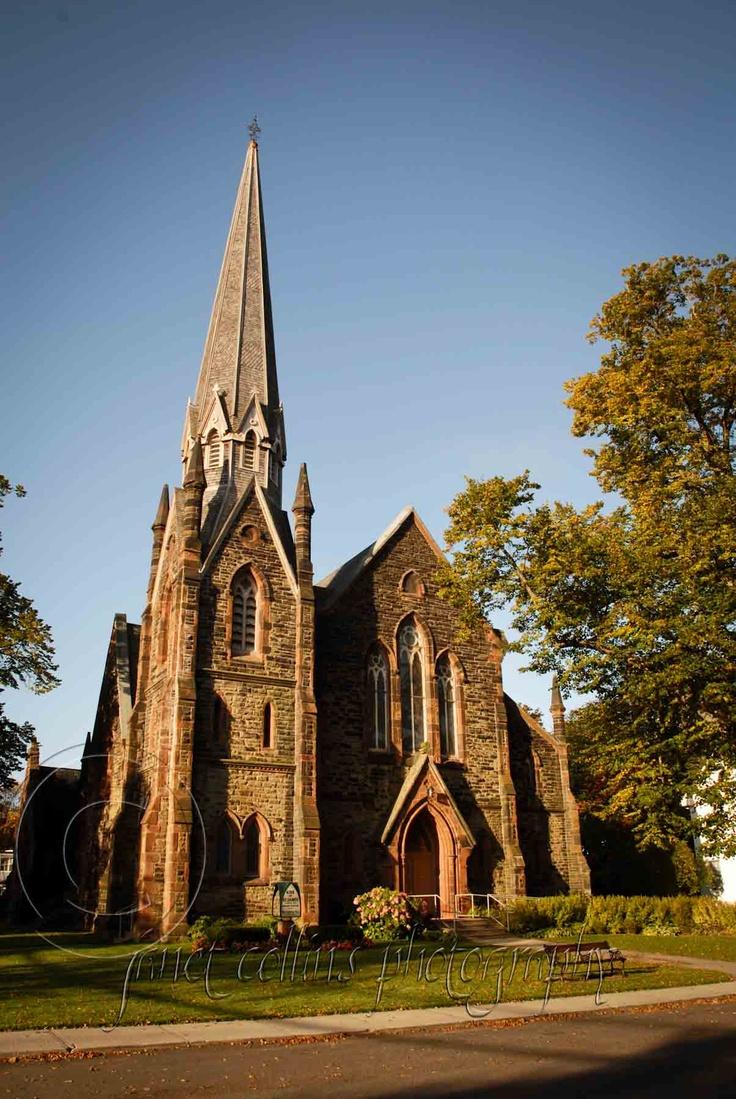 Kirk or St. James church in Charlottetown, Canada. Prince Edward Island