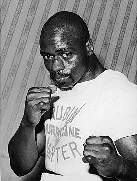 """Rubin """"Hurricane"""" Carter was an up-and-coming boxer until he was arrested in 1966 and found guilty twice for a triple homicide. He was eventually exonerated in 1985."""