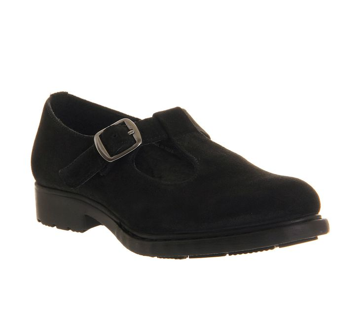 Office Eavesdrop Black Suede - Flats