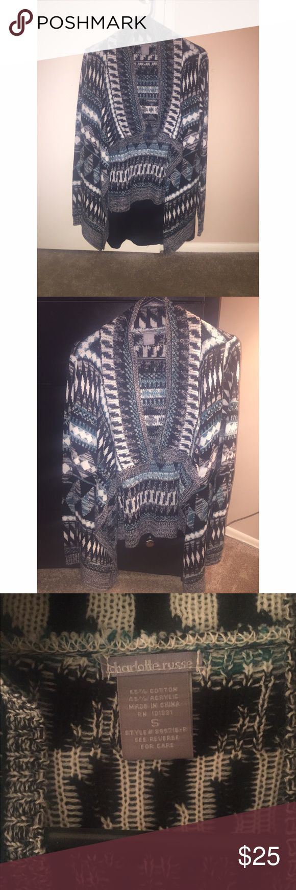TRIBAL CARDIGAN Beautiful cardigan!! Never worn actually. Perfect for the winter time Charlotte Russe Sweaters Cardigans