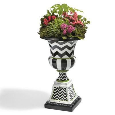 Zoey UrnDecor, Crafts Ideas, Outdoor Living, Grandin Roads, Chevron Planters, Grandinroad, Zoey Urns, Chevron Urns, Outdoor Planters
