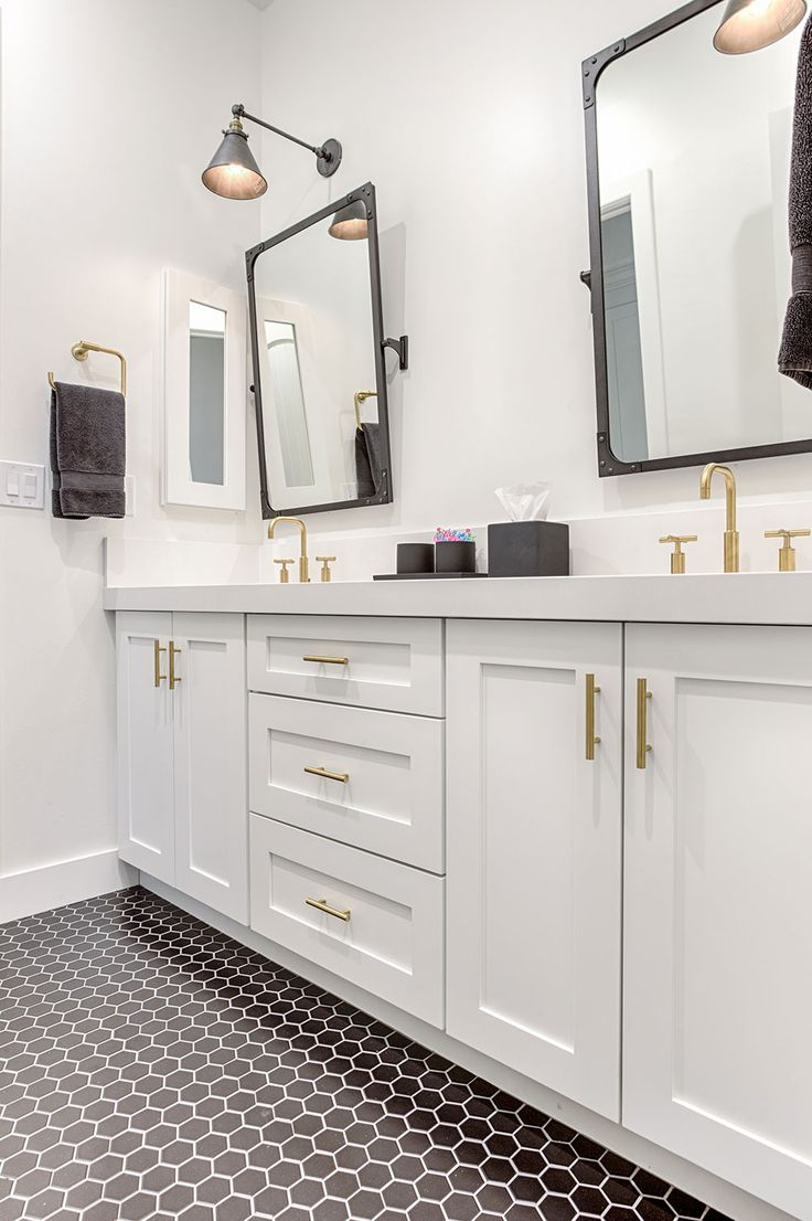 Create A Fresh, Modern Bathroom With Shaker White Cabinets From Our Value  Series, Add