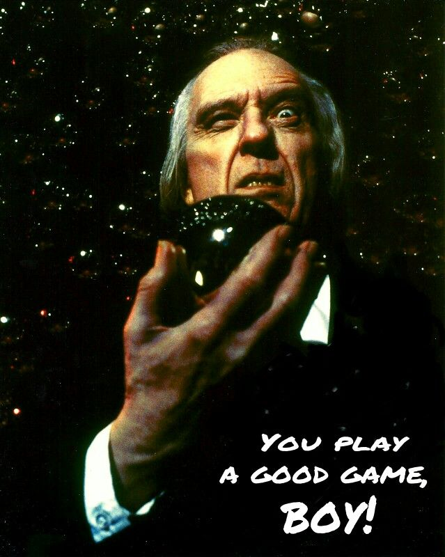 """""""You play a good game, boy!"""" (Angus Scrimm as the Tall Man from """"PHANTASM"""", 1979)"""