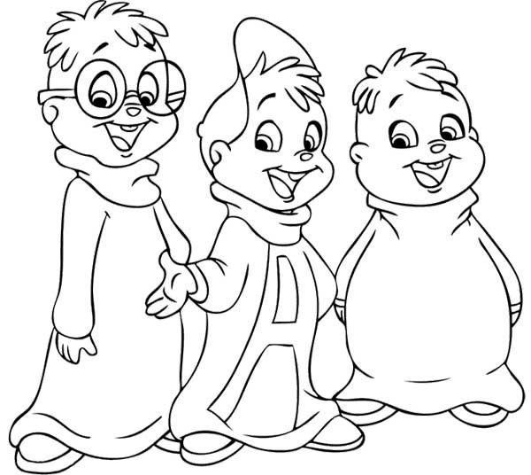 chipmunks chipettes coloring pages - photo#25