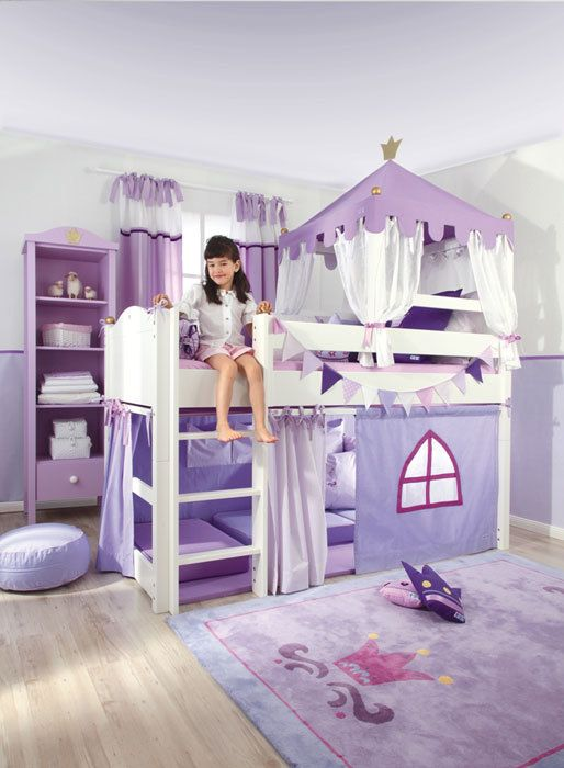 Toddler Bed The Baby Cot Shop - Crown Royal Mid Sleeper Bed, $5,815.28