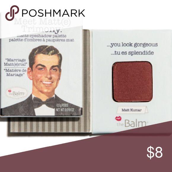 The Balm Meet Matt (e) Trimony in Matt Kumar Posting lots of beauty items - happy to accept offers on bundles! Brand new the balm Makeup Eyeshadow