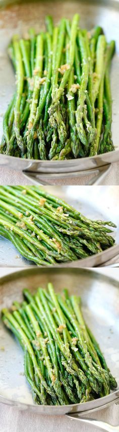 Garlic Butter Sauteed Asparagus – the easiest & healthiest asparagus recipe ever, takes only 10 mins to prep | http://rasamalaysia.com