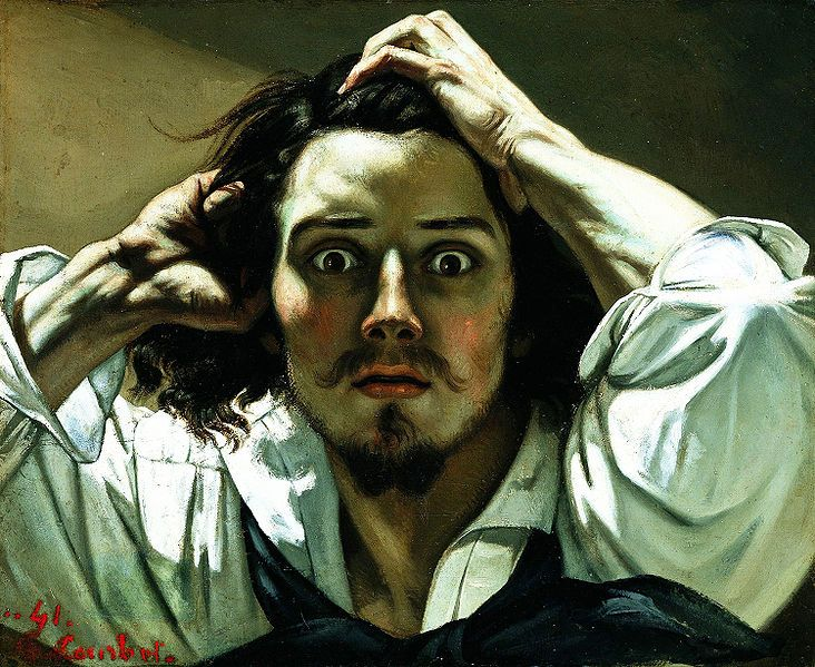 Self-portrait (The Desperate Man),  c.1843–45  by   Gustave Courbet