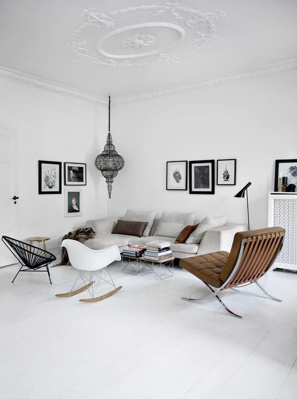 Peaceful scandinavian home with african elements