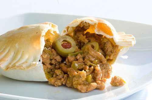 Uruguay: empanadas - ground beef oinions herbs eggs olives and rasins