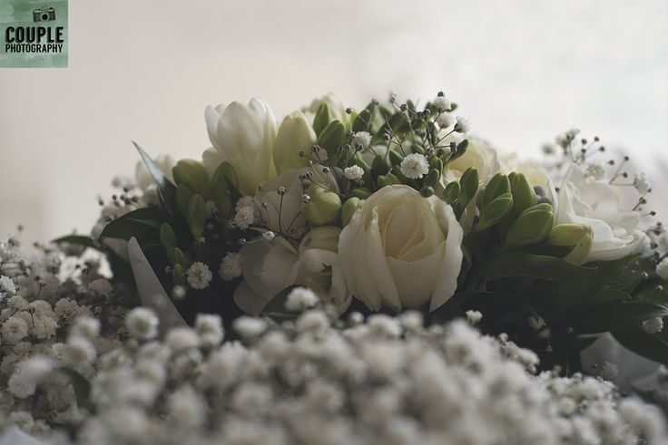 baby's breath so pretty for a bride. Real Wedding by Couple Photography