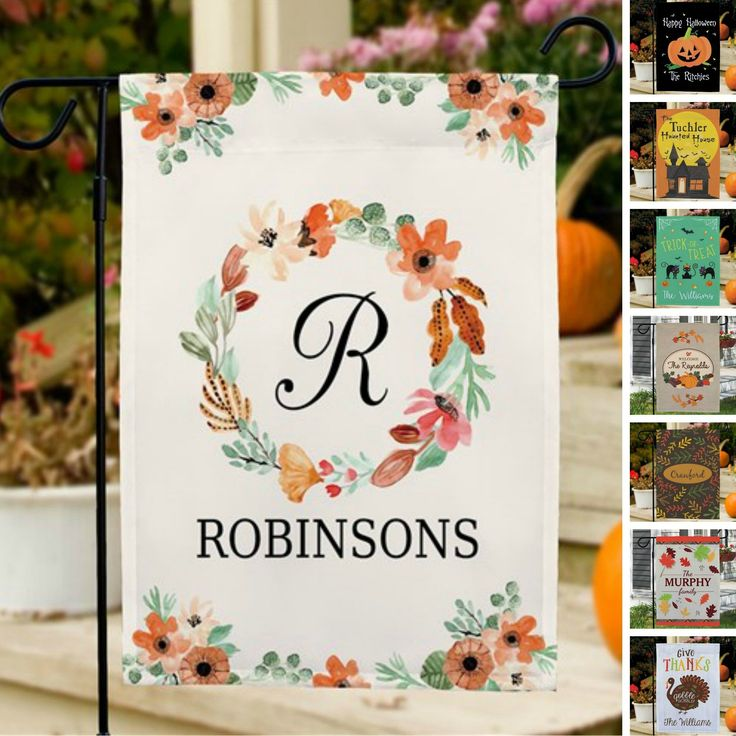 Personalized Halloween & Fall Garden Flags-Happy Halloween – Purple