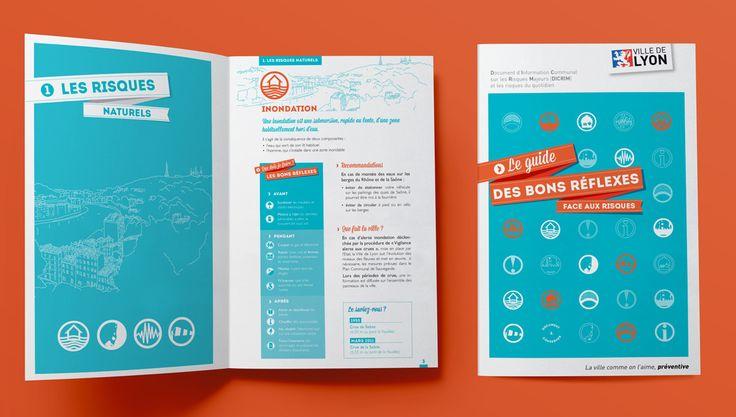 La Ville de Lyon communique auprès de ses citoyens par différents canaux de communication tels que des campagnes ou par l'édition de document. Comète est régulièrement consultée pour concevoir les messages de ces documents.