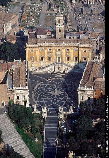 Rome , Lazio , Italy - The Campidoglio aerial view