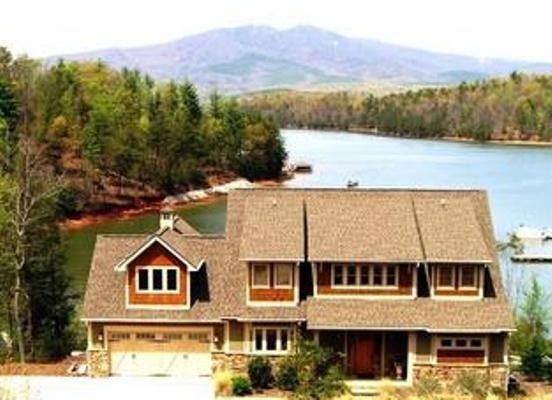 Waterfront home lake james blue ridge mountains breathtaking views blue home and lakes - Alpine vacation houses ...