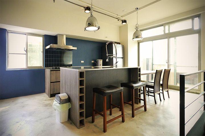 工業風/LOFT/中島廚房/吧檯/開放式廚房/進口廚具 | 楊俊彥 | Furniture, Bar, Home Decor