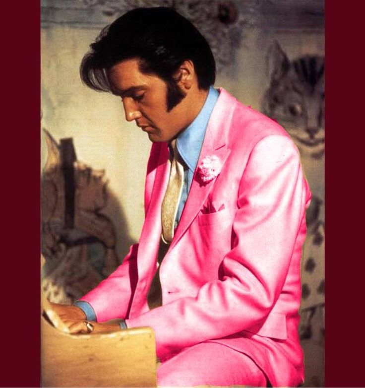 Colors That Look Good With Pink: Elvis In Pink. He Looks Good In Any Color.
