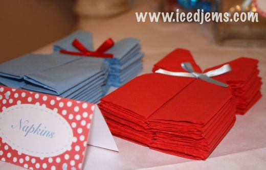 Red & Blue Baby Shower Party Ideas | Napkins, Babies and