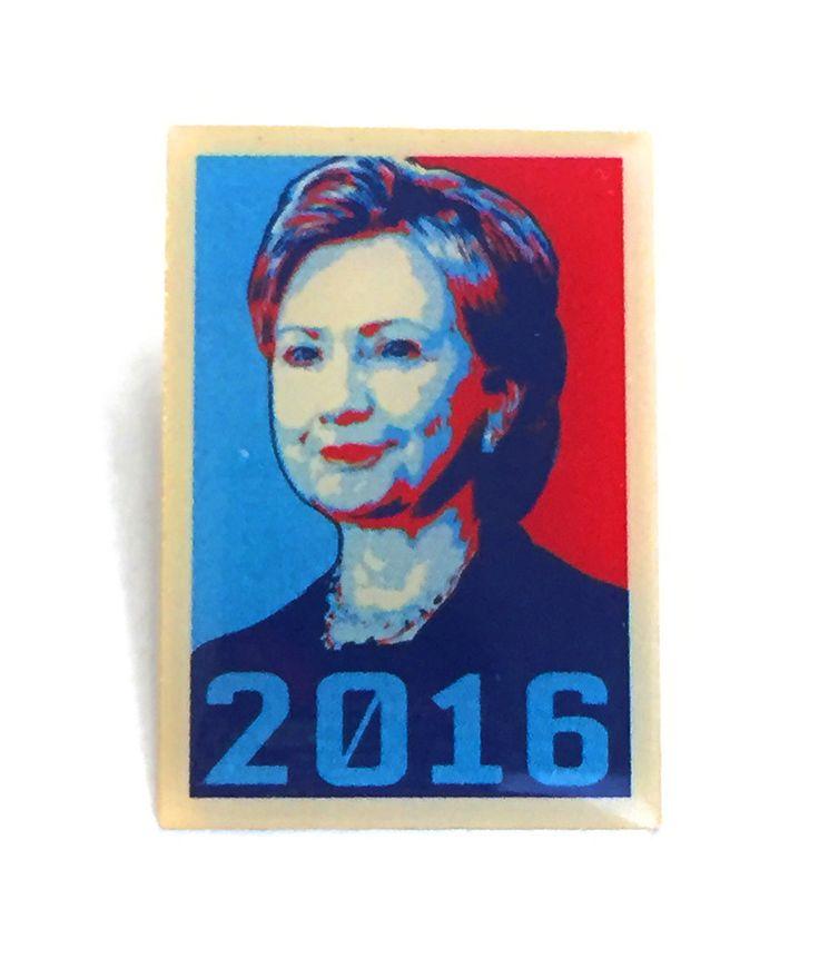 Lapel Pin - Hillary Clinton Democrat President Presidential Candidate 2016