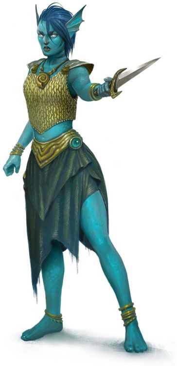 Female Water Genasi Barbarian, Bard, Cleric, Fighter, Ranger, Rogue, Warlock