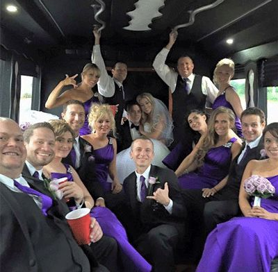 wedding limo bus with Limos Alive Wedding Experts and Best of the Knot 2016  winner  www.limosalive.com