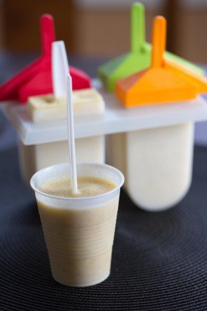 Primal Zone Diet ~ Peach Smoothie Popsicles