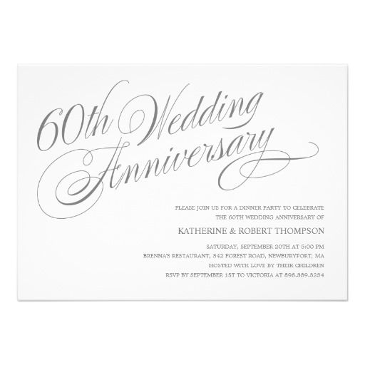 17 best 60th anniversary invitation ideas images on pinterest 60th wedding anniversary invitations stopboris Gallery