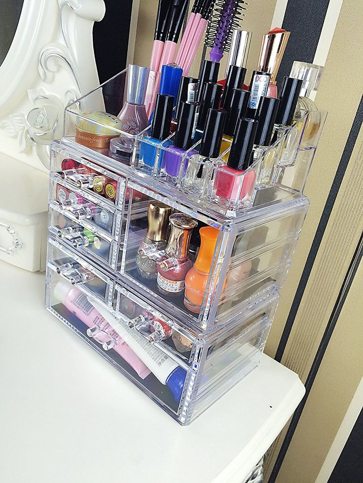 Makeup Organizer with Cosmetic Storage Cases - 11 Best Bathroom Accessories