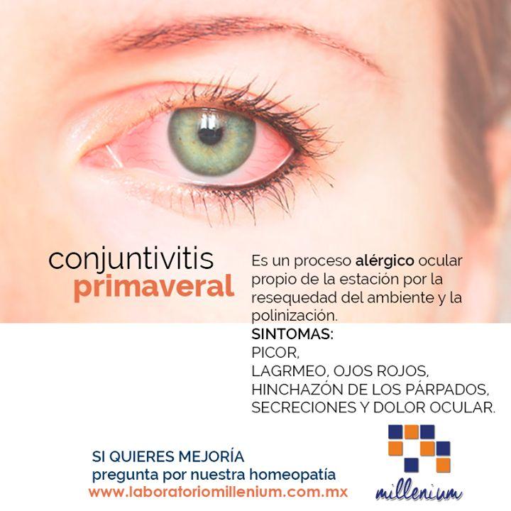 El ambiente seco de la primavera promueve infecciones oculares como la conjuntivitis. Debes consultar a tu médico.