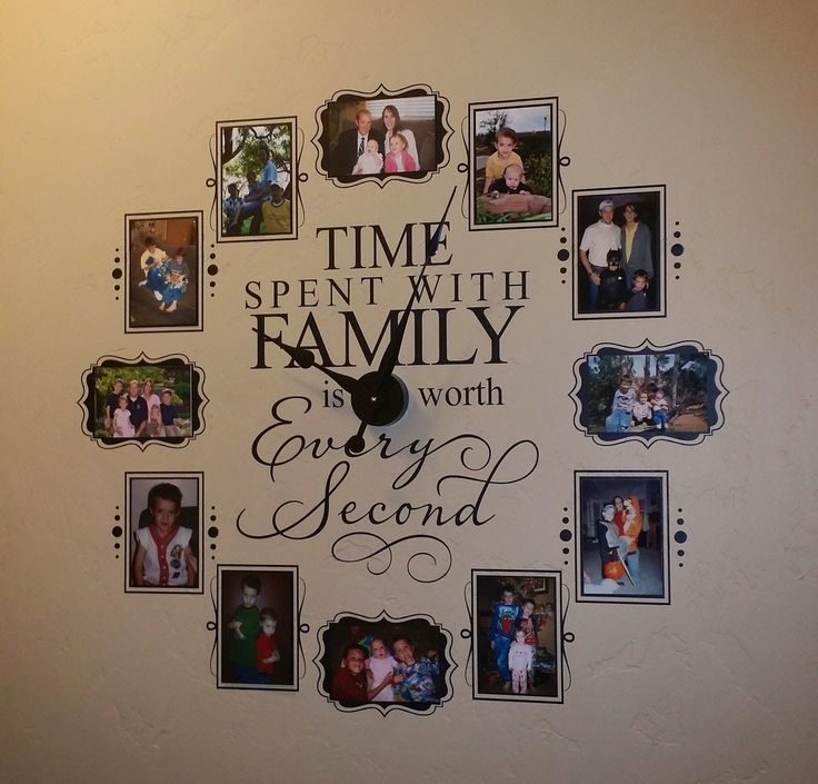 Vinyl 4 Decor: Coupon Code for Time spent with family vinyl wall clock $15 OFF